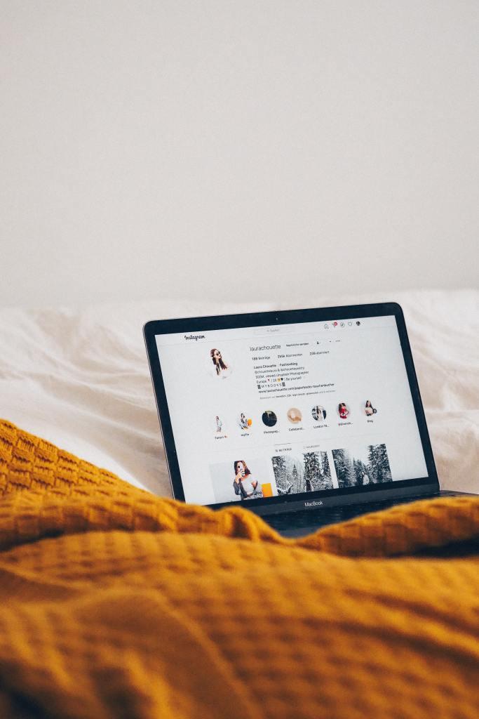 Instagram on Macbook screen